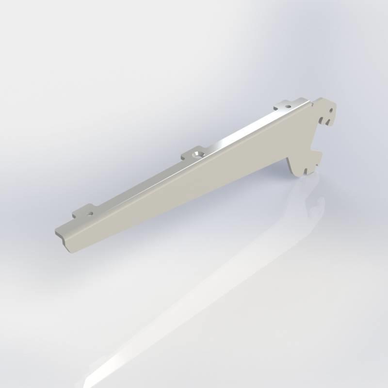Consoles omgezet, paar dragers links en rechts voor legbord hout of glas, verstelbaar in 0, 20 of 35 graden.