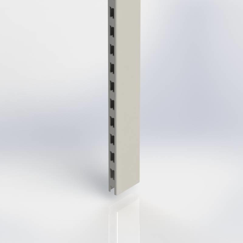 Staander 80 x 30 mm., koker met H-perforatie aan twee zijden.