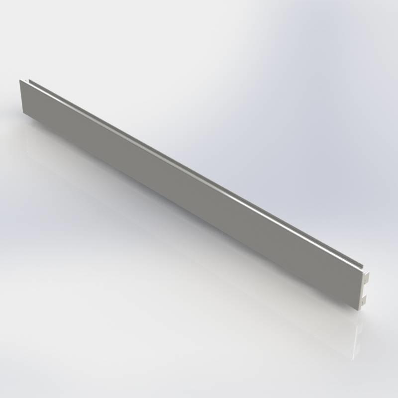 Slatwall paneel 100 mm. hoog voor een strokenwand.