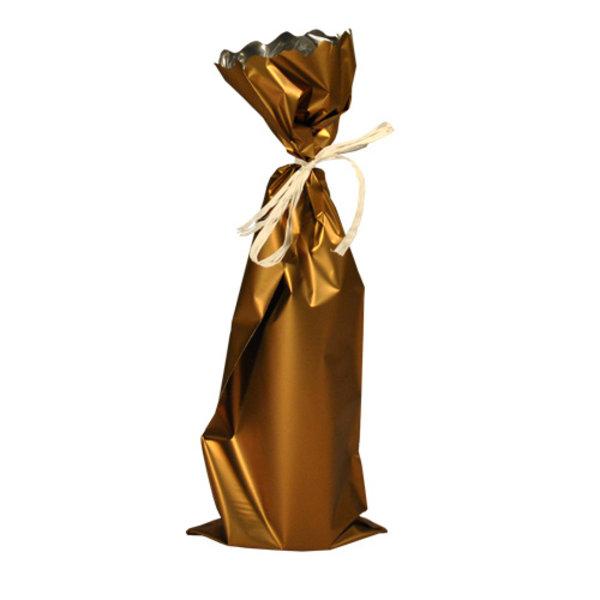 Wijnflesverpakking alufolie goud
