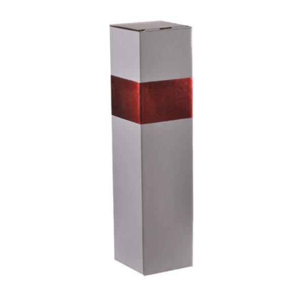 Luxe cadeaubox wit met rode rand