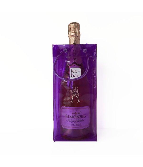 Ice•bag wijnkoeler paars