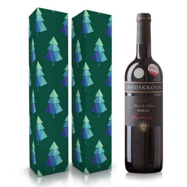 """Wijnbox """"kerstbomen"""""""