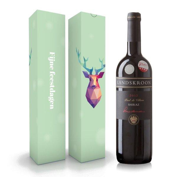 """Wijnbox """"Fijne feestdagen"""""""
