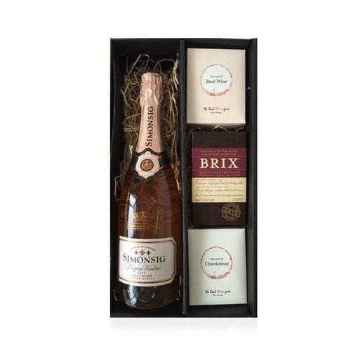 Cadeaubox Kaapse Vonkel Rosé Brut, chocolate & sweets deluxe