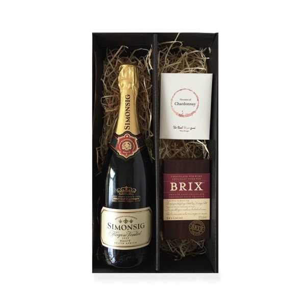 Cadeaubox Kaapse Vonkel Brut, chocolate & sweets