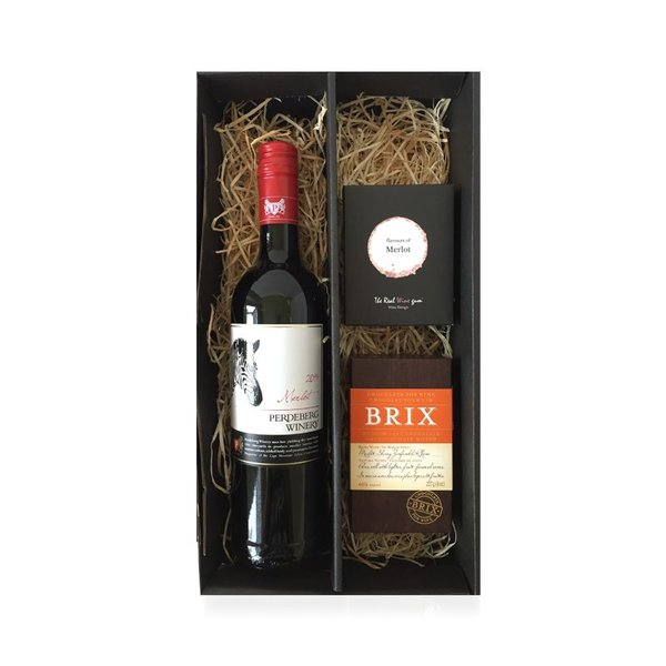 Cadeaubox Merlot, chocolate & sweets