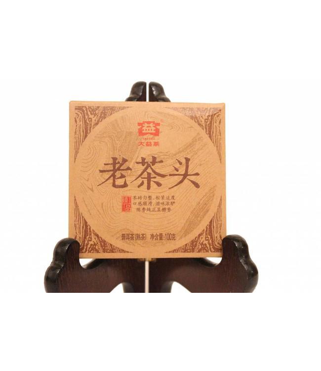 Menghai Dayi (TAETEA) Lao Chatou / old tea lump (shu) 2014