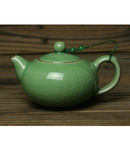 Longquan Celadon Meizi tea pot (200 cc, globe screen)
