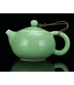 Longquan Celadon Turquoise tea pot (140 cc, Kugelsieb)