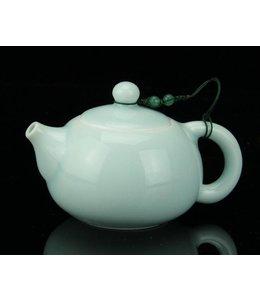 Longquan Celadon Blue tea pot (140 cc, globe screen)