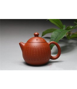 Yixing Zhuni Longdan tea pot (140 cc, globe screen)