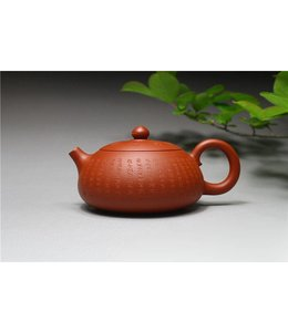 Yixing Zhuni Xinjingpian Xishi tea pot (170 cc, globe screen)