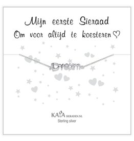 "KAYA Silver baby bracelet ""follow your dreams"" - Copy - Copy"