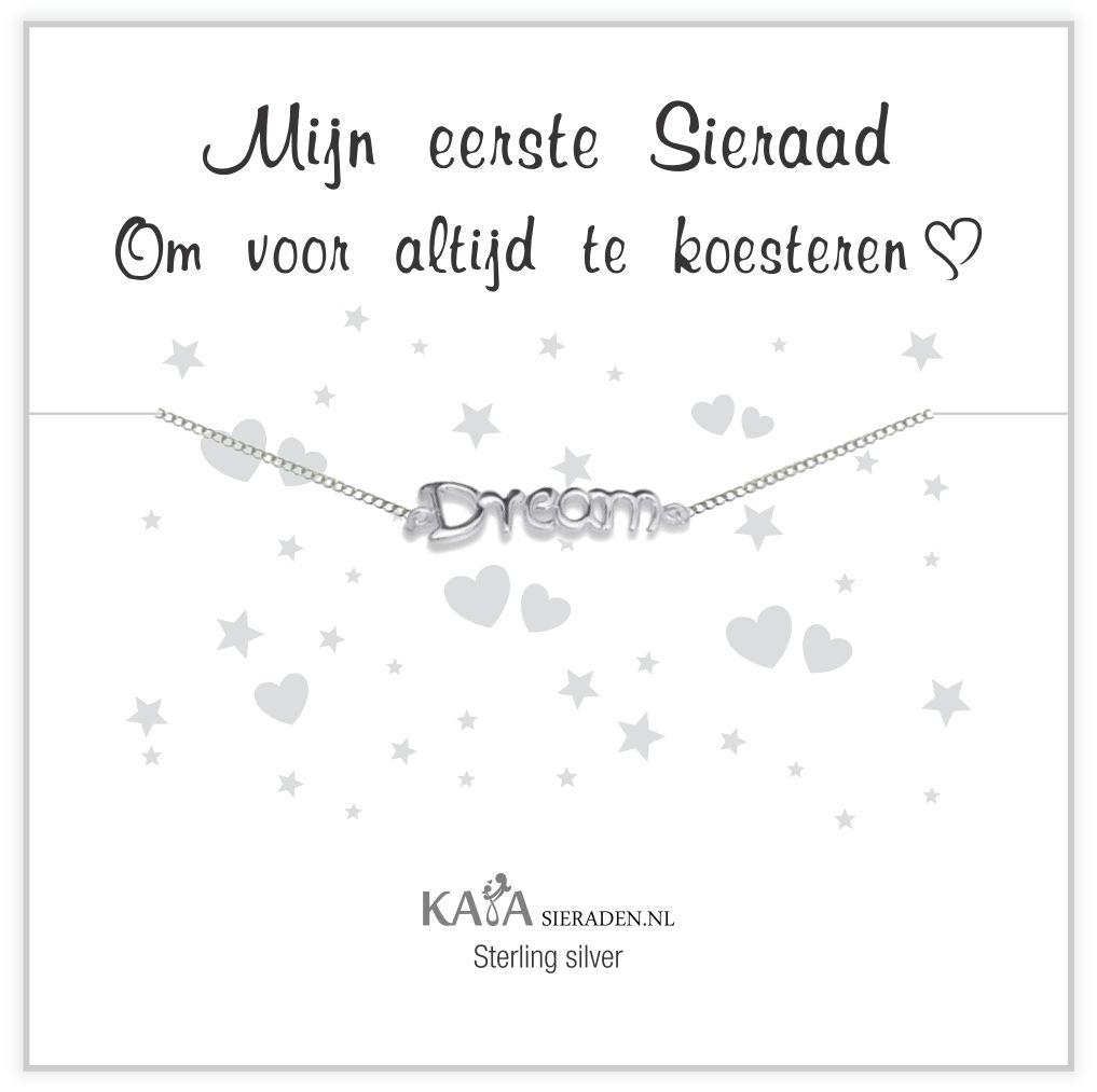 """KAYA sieraden Silver baby bracelet """"follow your dreams"""" - Copy - Copy"""