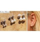 KAYA sieraden Silver earrings 'choose your size: 3, 5 or 7 mm'