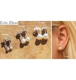 KAYA sieraden Zilveren Pareloorbellen 'Pearl'