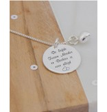 """Silver Necklace + Pearl """"The Love Between Mother & Daughter .. ' - Copy"""