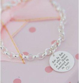 KAYA sieraden Silver Chain Bracelet with Coin (17 mm) - Copy - Copy