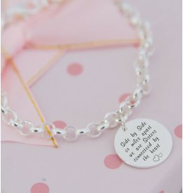 KAYA Silver Chain Bracelet with Coin (17 mm) - Copy - Copy