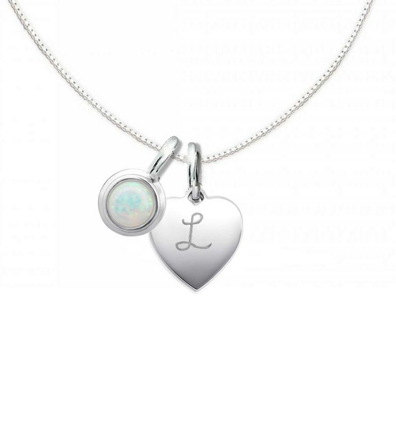 KAYA Silver Necklace 'Cutie' Opal 10x12mm