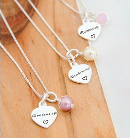 "KAYA Silver Necklace ""Sweet Bridesmaid '"