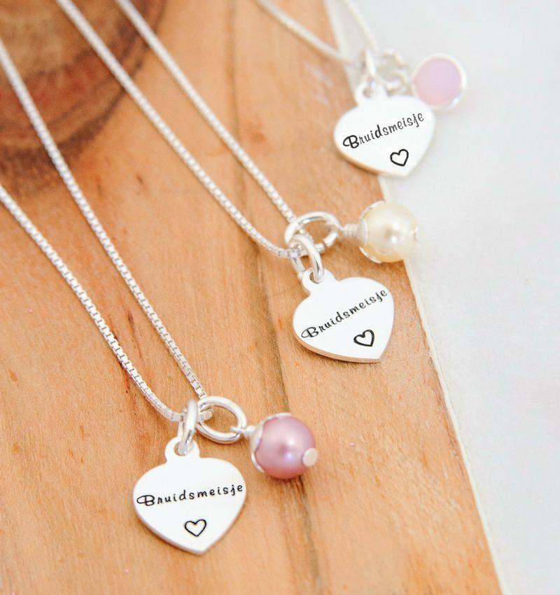 KAYA sieraden Zilveren huwelijksketting 'Bruidsmeisje'