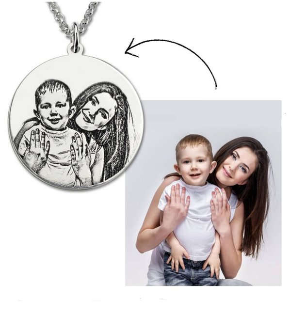 Sieraden Necklace with photos square '