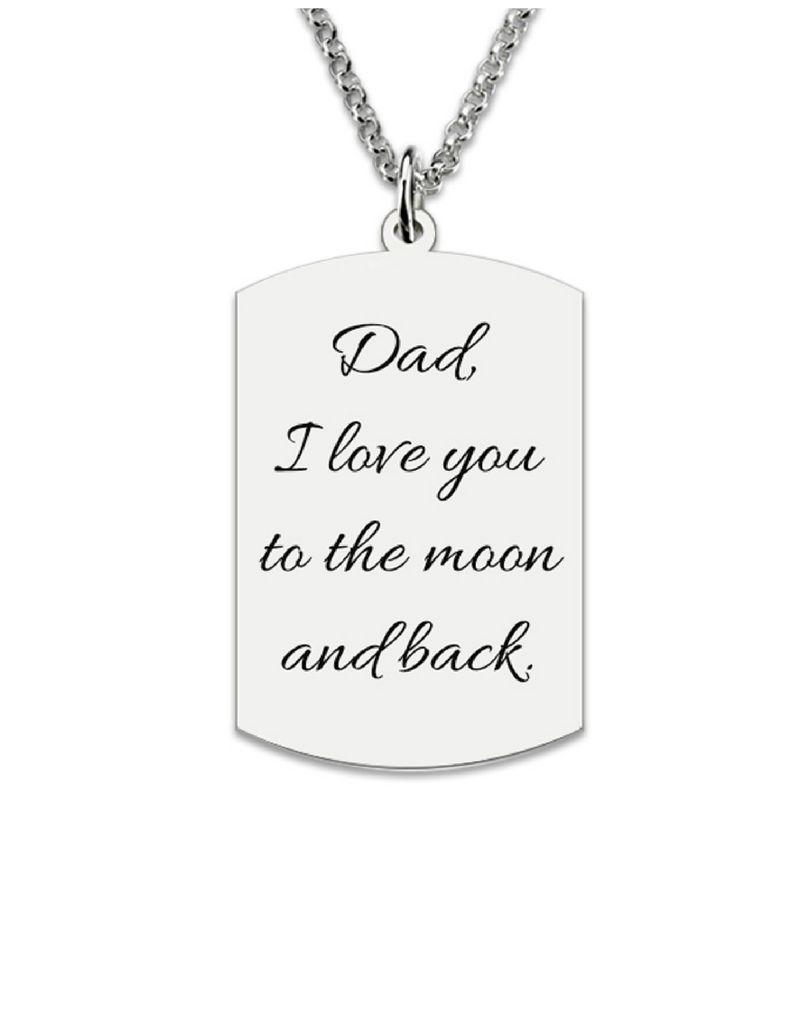 Gegraveerde sieraden Necklace with photo