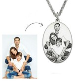 Gegraveerde sieraden Necklace with pictures oval '