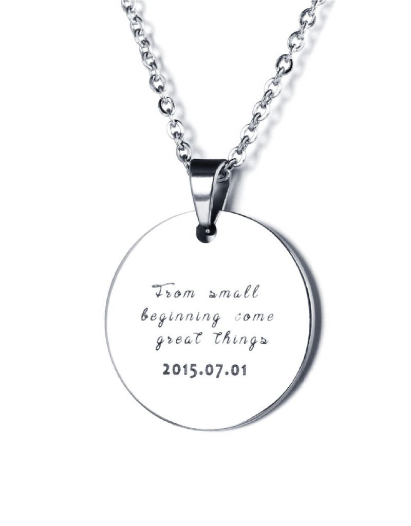 juwelier Necklace with photo 'circle' - stainless steel