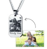 juwelier Necklace with photo and text - stainless steel