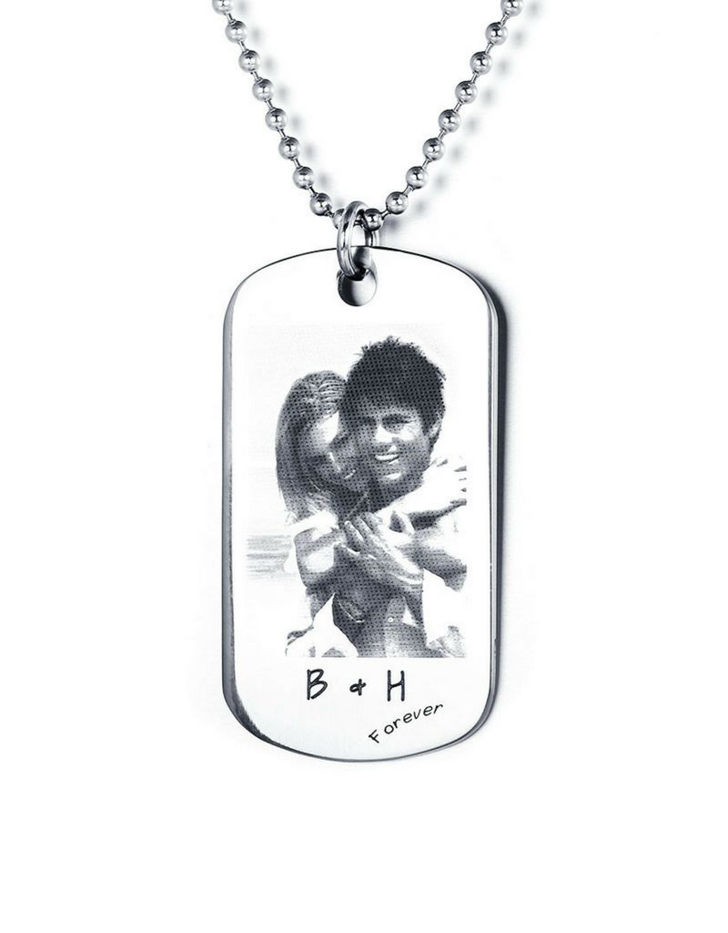 Gepersonaliseerde sieraden Necklace with photo - stainless steel