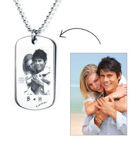 Necklace with photo - stainless steel