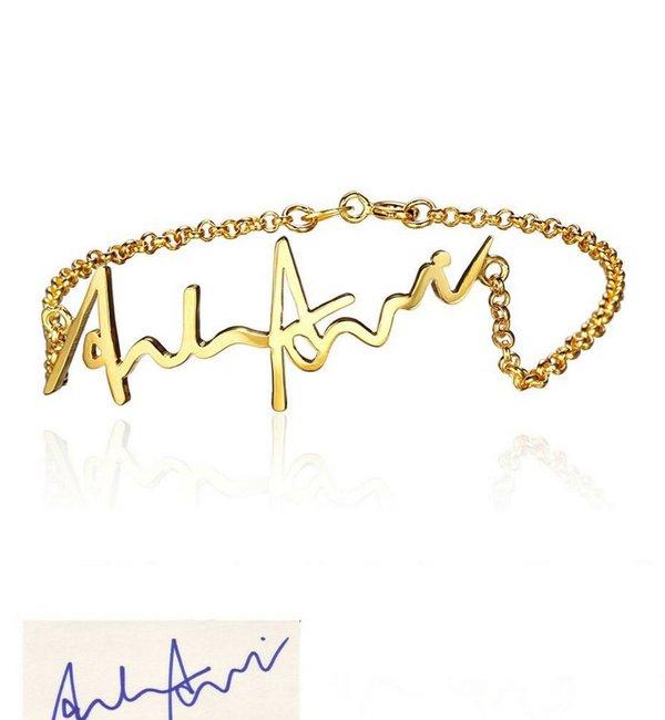 Gepersonaliseerde sieraden Bracelet with own handwriting