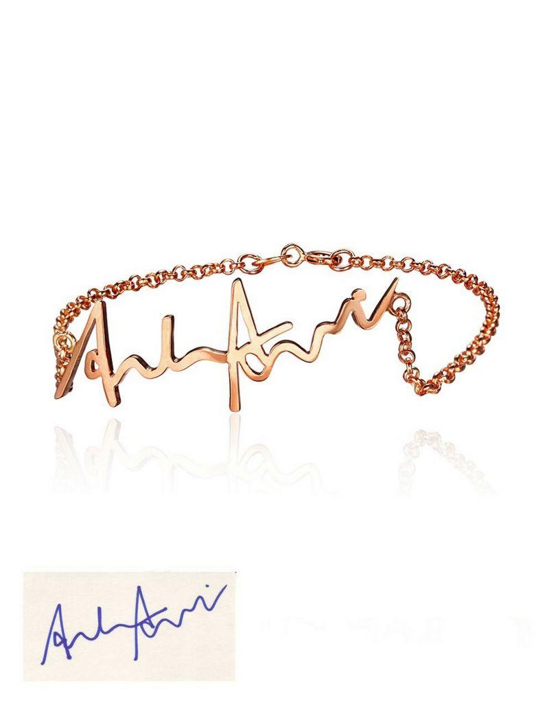 Gegraveerde sieraden Armband met eigen handschrift
