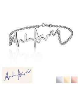 Gegraveerde sieraden Armband 'Handwritten'