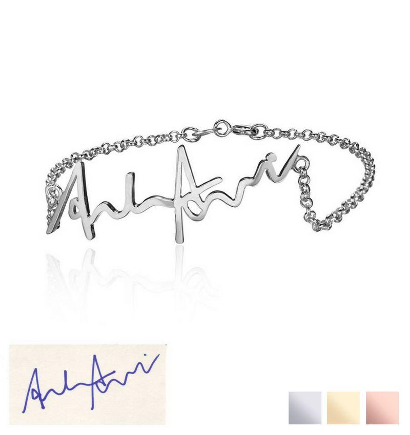Gegraveerde sieraden Armband 'Handwritten' met Eigen Handschrift