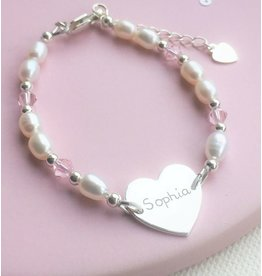 KAYA Infinity Bracelet silver 'forever' with Pearl - Copy - Copy