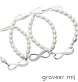 handgravure Zilveren 3 Generatie armbanden 'Infinite Love'