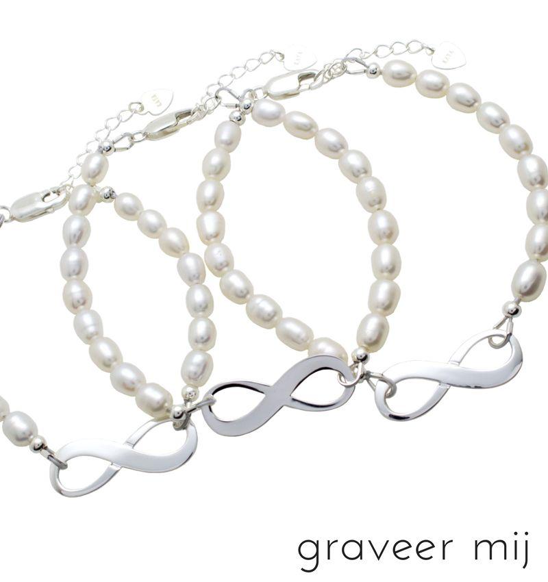 Zilveren 3 Generatie armbanden 'Infinite Love'