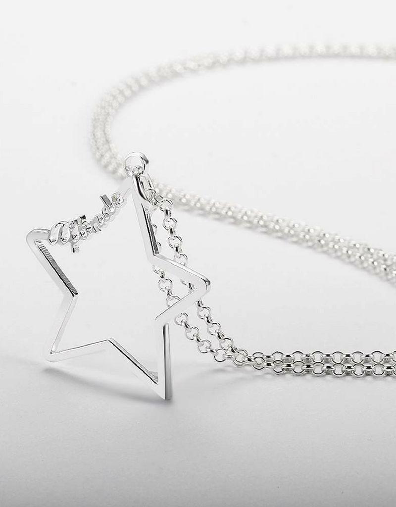 Zilveren ketting 'Written in the Stars' met naam