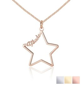 Gepersonaliseerd Necklace with 1 name 'star'