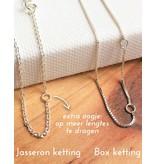 KAYA Zilveren ketting 'Kies je Tekst'