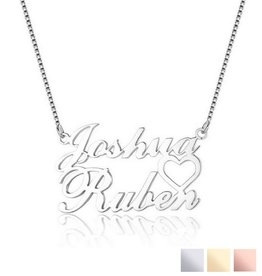 Gegraveerde sieraden Personalized necklace '2 names'