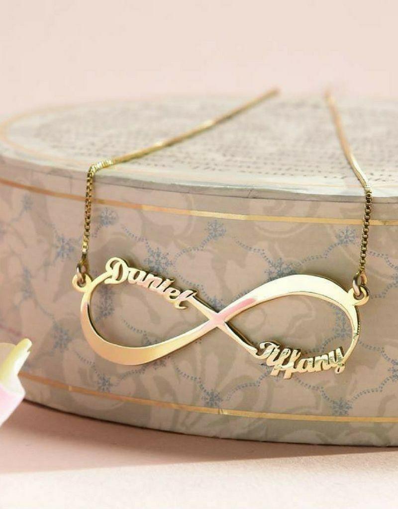 gravure L Zilveren Infinity ketting 'Close to my Heart'