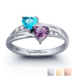Gepersonaliseerde sieraden Geboortesteenring 'Beloved'