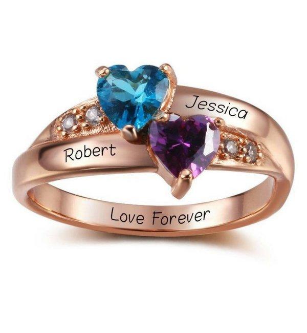Gepersonaliseerde sieraden Zilveren Gepersonaliseerde Ring 'Beloved