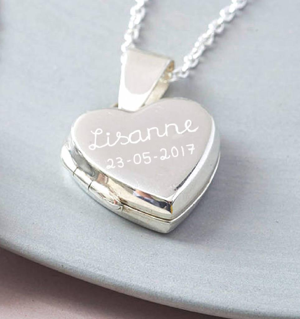 "KAYA Silver necklace 'Medaillong ""engraved"