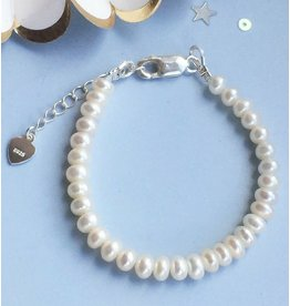 Silver Pearl Bracelet 'Pure'